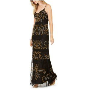 NEW Adrianna Papell dress long dress beaded gown